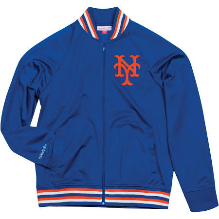 NEW YORK METS MITCHELL & NESS TOP PROSPECT TRACK JACKET