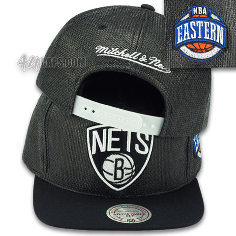 BROOKLYN NETS STRAW SNAPBACK BY MITCHELL & NESS (201AZ)