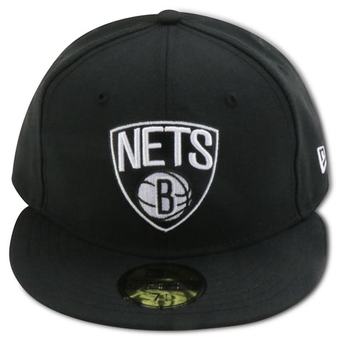 BROOKLYN NETS NEW ERA 59FIFTY FITTED (AIR JORDAN12 RETRO BLACK NYLON)