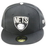 BROOKLYN  NETS NEW ERA 59FIFTY FITTED (AIR JORDAN6 RETRO BLACKCAT)