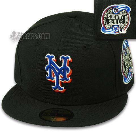 NEW YORK METS BLACK 2000 SUBWAY SERIES NEW ERA 59FIFTY FITTED