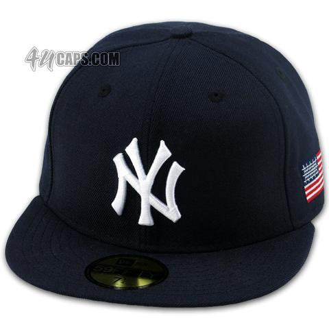 1b367fd06e2af NEW YORK YANKEES 911 SIDE PATCH NEW ERA 59FIFTY FITTED (GRAY BRIM) –  4ucaps.com
