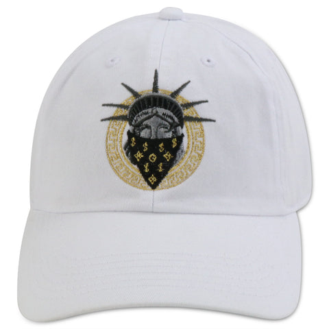 MIGHTY NYC  NO LIBERTY WHITE DAD HAT