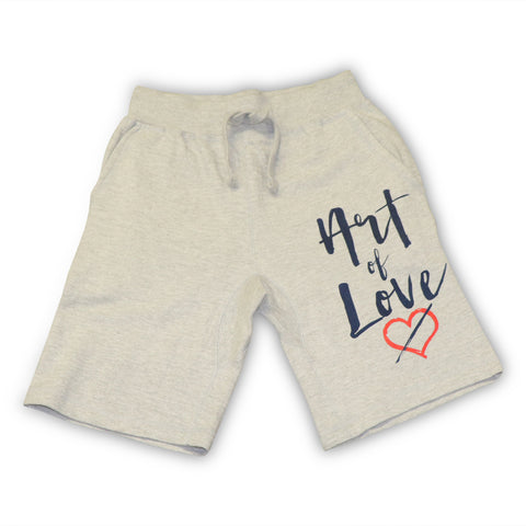 NOIR PARIS ART OF LOVE GREY SWEAT SHORTS
