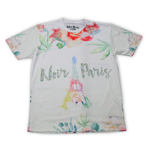 NOIRPARIS FLOWERS FROM PARIS TEE