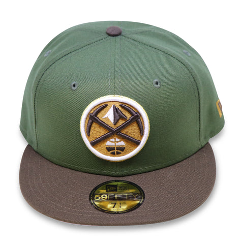 DENVER NUGGETS NEW ERA 59FIFTY OLIVE FITTED