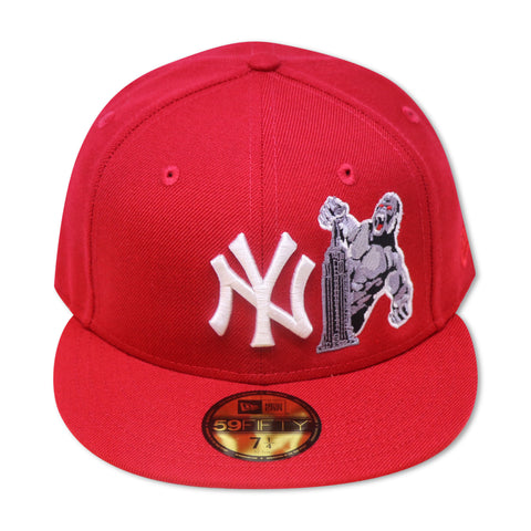 "NEW YORK YANKEES RED ""THE MIGHTY KING KONG"" NEW ERA 59FIFTY FITTED"