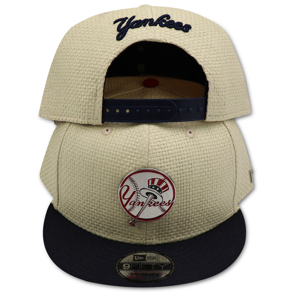 cc8bf510661 NEW YORK YANKEES STRAW (METALLIC TOP HAT LOGO) NEW ERA 9FIFTY SNAPBACK –  4ucaps.com