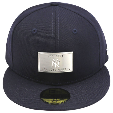 NEW YORK YANKEES NAVY (SILVER METALLIC) NEW ERA 59FIFTY FITTED