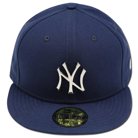 "NEW YORK YANKEES (NAVY) METALLIC SILVER LOGO ""THE BRONX"" NEW ERA 59FIFTY FITTED"