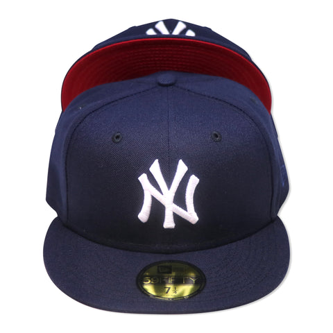 "NEW YORK YANKEES (NAVY) ""RED-BOTTOM"" NEW ERA 59FIFTY FITTED"