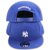 NEW YORK YANKEES MINI-LOGO ROYAL NEW ERA 9FIFTY SNAPBACK (AIR JORDAN 5 RETRO BLUE SUEDE)