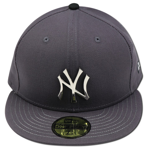 "NEW YORK YANKEES (DARK GREY) METALLIC SILVER LOGO ""THE BRONX"" NEW ERA 59FIFTY FITTED"