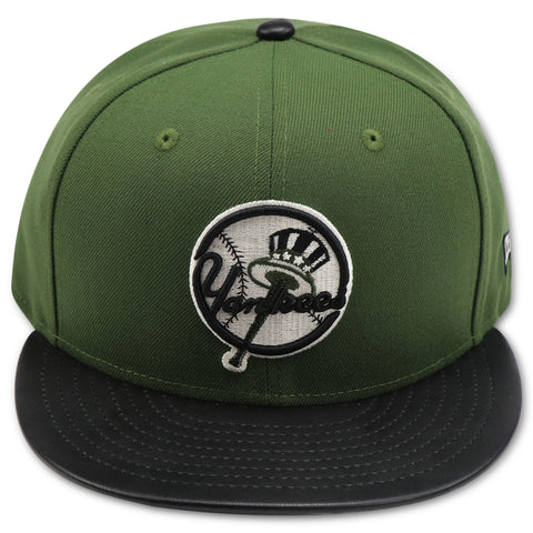 NEW YORK YANKEES OLIVE (TOP HAT LOGO) NEWERA 59FIFTY FITTED