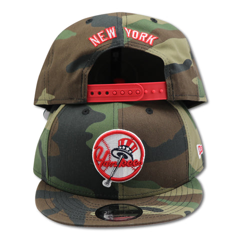 "NEW YORK YANKEES CAMO ""TOP HAT LOGO"" NEW ERA  9FIFTY SNAPBACK"