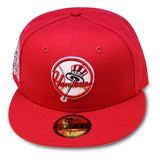 NEW YORK YANKEES RED 27X CHAMPS NEW ERA 59FIFTY FITTED