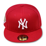 "NEW YORK YANKEES RED ""1996 WORLDSERIES"" NEW ERA 59FIFTY FITTED"