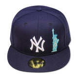 "NEW YORK YANKEES (NAVY) ""LADY LIBERTY X BIG APPLE"" NEW ERA 59FIFTY (RED BOTTOM)"