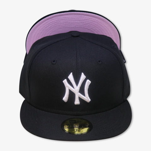 "NEW YORK YANKEES (BLACK) ""PINK-BOTTOM"" NEW ERA 59FIFTY FITTED"