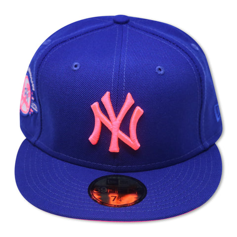 "NEW YORK YANKEES (ROYAL) ""100TH ANNIVERSARY"" NEW ERA 59FIFTY FITTED (HOT PINK BOTTOM)"