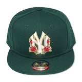 "NEW YORK YANKEES (GREEN) ""ROSE LOGO"" NEW ERA 9FIFTY SNAPBACK W"