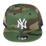 "NEW YORK YANKEES (CAMO) ""2009 WORLDSERIES"" NEW ERA 9FIFTY SNAPBACK (PINK BOTTOM)"
