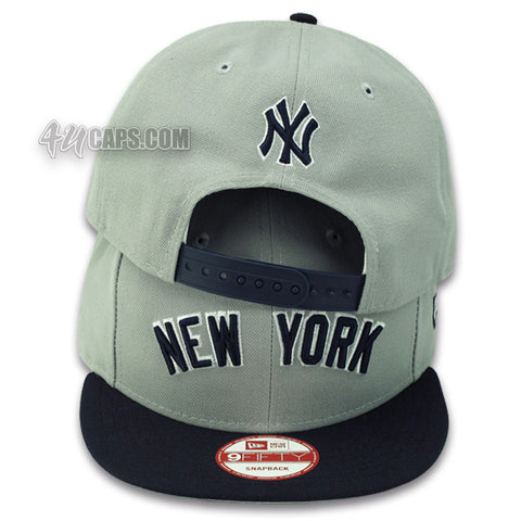 NEW YORK YANKEES NEW ERA 9FIFTY SNAPBACK JERSEY LOGO (GRAY UNDER BRIM)