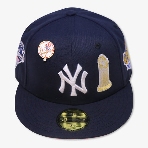"NEW YORK YANKEES (NAVY) ""THE DYNASTY 1996-2000"" NEW ERA 59FIFTY FITTED (WITH TOP HAT LOGO PIN)"
