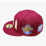 "NEW YORK YANKEES (BURGUNDY) ""THE DYNASTY 1996-2000"" NEW ERA 59FIFTY FITTED (WITH TOP HAT LOGO PIN)"