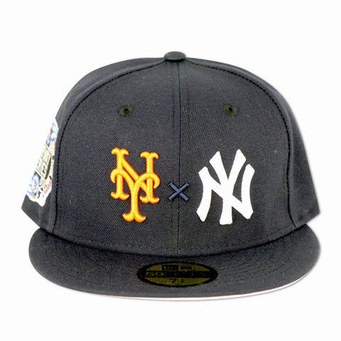 "METS X YANKEES (NAVY) ""2000 SUBWAYSERIES"" NEW ERA 59FIFTY (PINK BOTTOM)"