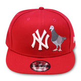 "NEW YORK YANKEES RED ""THE NEW YORK PIGEON"" NEW ERA 9FIFTY SNAPBACK"