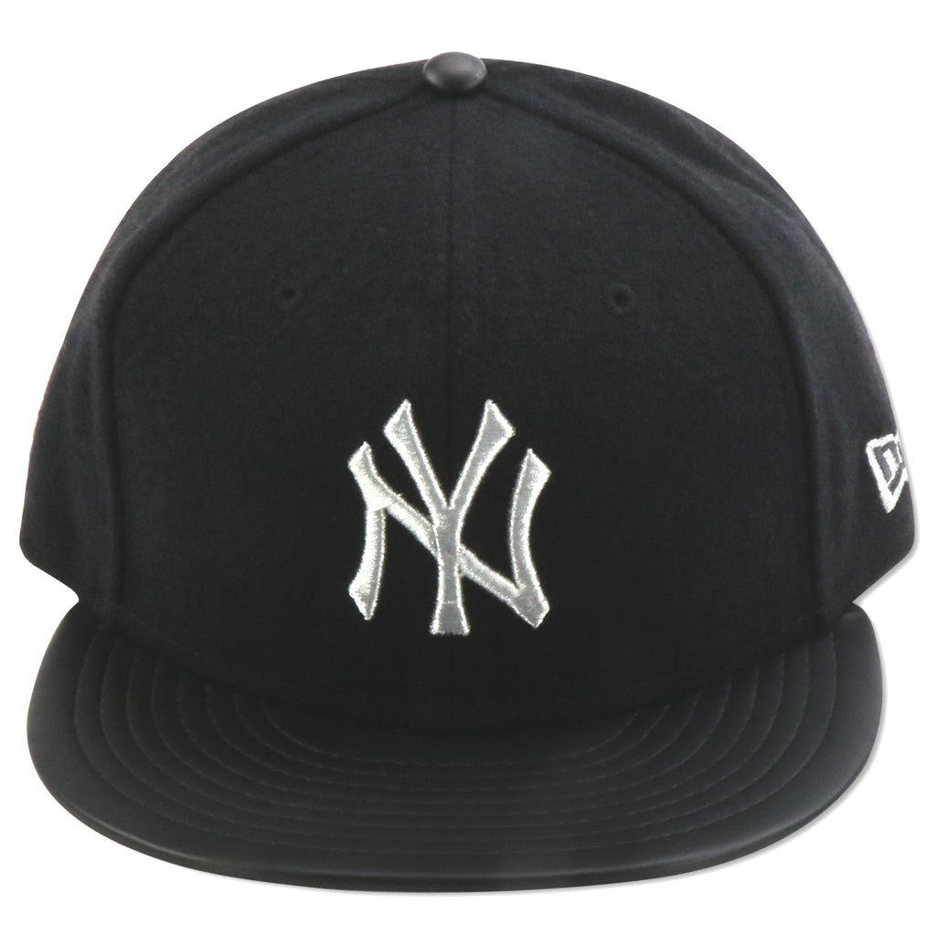 official photos feeb4 99f18 NEW YORK YANKEES NEW ERA (BLACK SILVER) WOOL 59FIFTY FITTED – 4ucaps.com