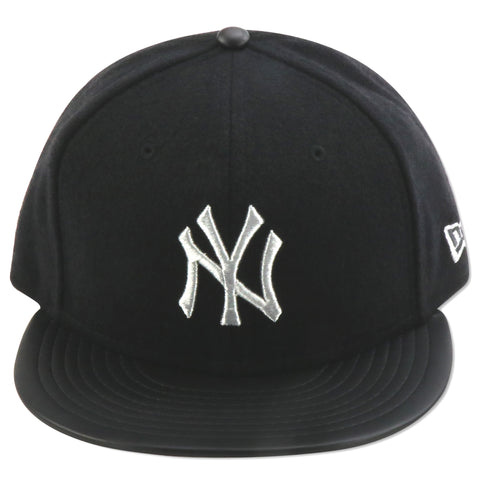 NEW YORK YANKEES NEW ERA (BLACK/SILVER) WOOL 59FIFTY FITTED