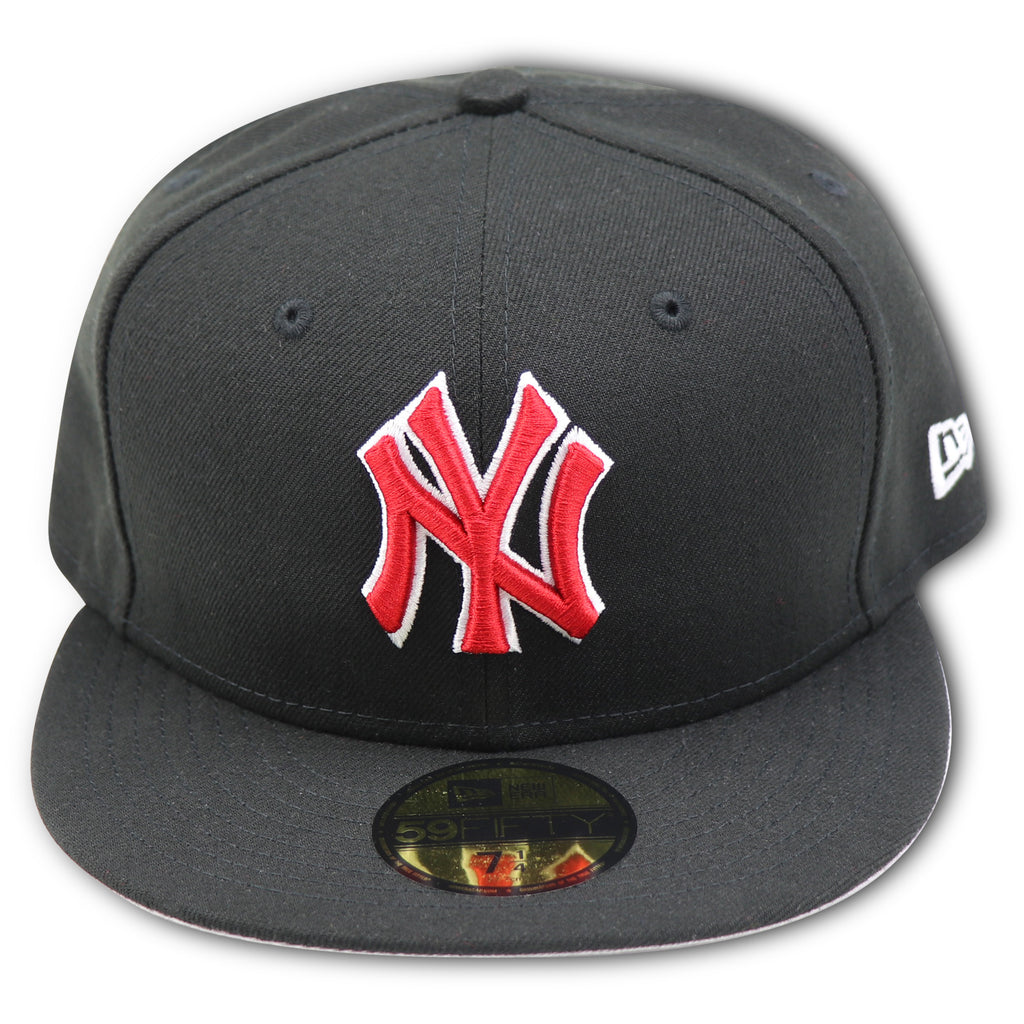 NEW YORK YANKEES NEW ERA (BLACK RED) 59FIFTY FITTED – 4ucaps.com c60704e3240