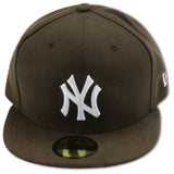 NEW YORK YANKEES (BROWN/WHITE) NEW ERA 59FIFTY FITTED