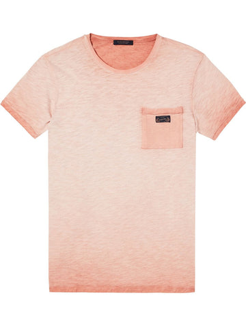 SCOTCH&SODA OIL WASH PEACH TEE (PEACH FOAMS)