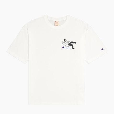 CHAMPION OMNI CLOUD TEE (214419-WHTC)