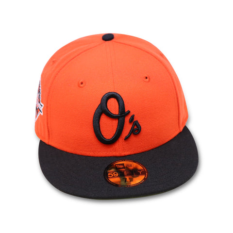 "BALTIMORE ORIOLES ""50TH ANN"" NEW ERA 59FIFTY (OLIVE BOTTOM)"