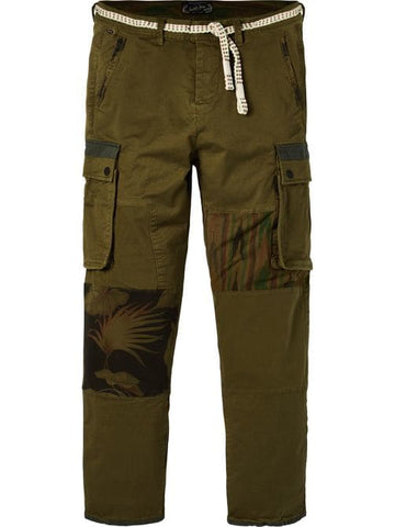 SCOTCH&SODA OLIVE UTILITY MIX PANTS