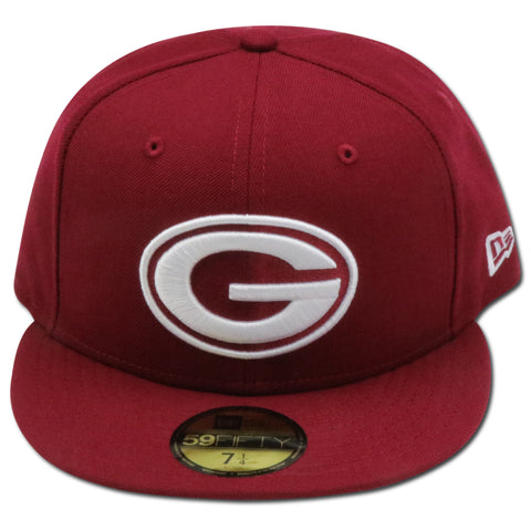 GREEN BAY PACKERS BURGUNDY NEW ERA 59FIFTY FITTED