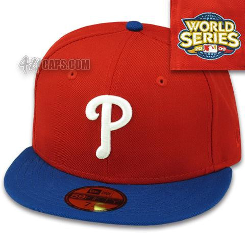 PHILADELPHIA PHILLIES 2009 ALT WORLD SERIES NEW ERA 59FIFTY FITTED