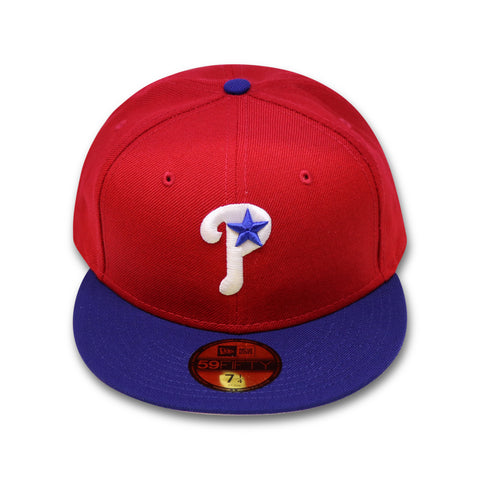 "PHILADELPHIA PHILLIES ""1999-2006 ALT"" NEW ERA 59FIFTY FITTED (RED/ROYAL)"