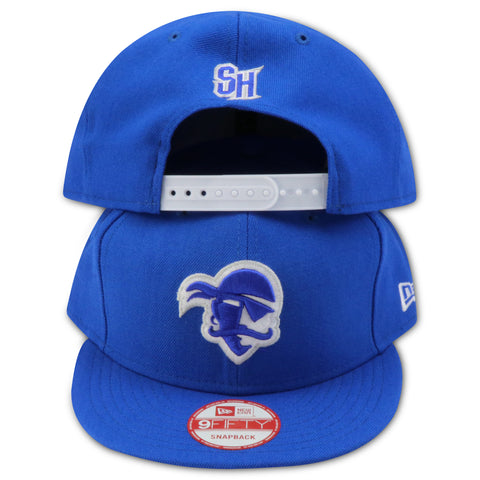 SETON HALL PIRATES NEW ERA 9FIFTY SNAPBACK (AIR JORDAN12 RETRO DEEP ROYAL)