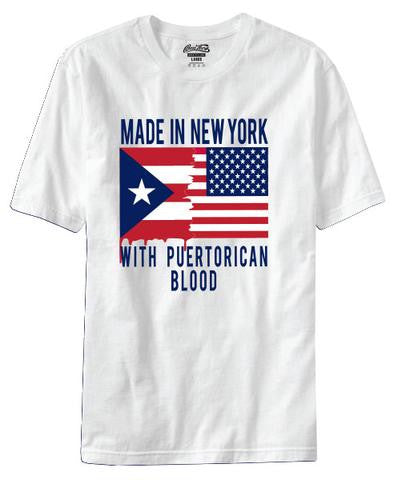 BORO TEES NEW YORK MADE WITH PR BLOOD TEE