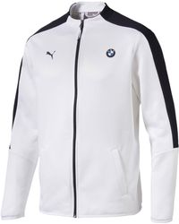 PUMA BMW MOTORSPORT T7 WHITE TRACK JACKET