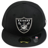 "OAKLAND RAIDERS ""4UCAPS EXCLUSIVE"" NEW ERA 59FIFTY RHINESTONE FITTED"