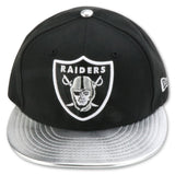 OAKLAND RAIDERS NEW ERA 59FIFTY FITTED (SILVER SURFER FOAMS)