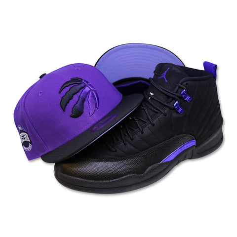 TORONTO RAPTORS NEW ERA 59FIFTY FITTED (LAVENDER BOTTOM) (AIR JORDAN 12 RETRO CONCORD)