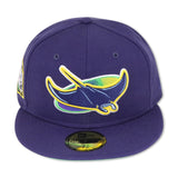 "TAMPA BAY DEVIL RAYS ""2020 WORLDSERIES"" NEW ERA 59FIFTY FITTED (APPLE GREEN BOTTOM)"