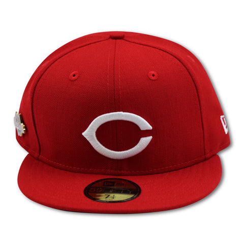 CINCINNATTI REDS 1990 WORLDSERIES PIN NEW ERA 59FIFTY FITTED (GREEN BRIM)